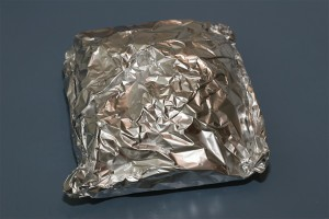 Rotate the foil packet your just made 1/4 turn and then seal it again with the second piece of foil.